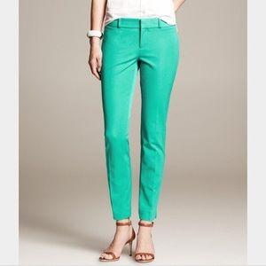 Banana Republic Turquoise Sloan Pants